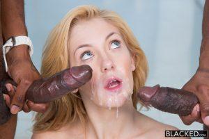 Blacked 2 Big Black Dicks for Rich White Girl Emily Kae with Charlie Mac & Prince Yahshua 13