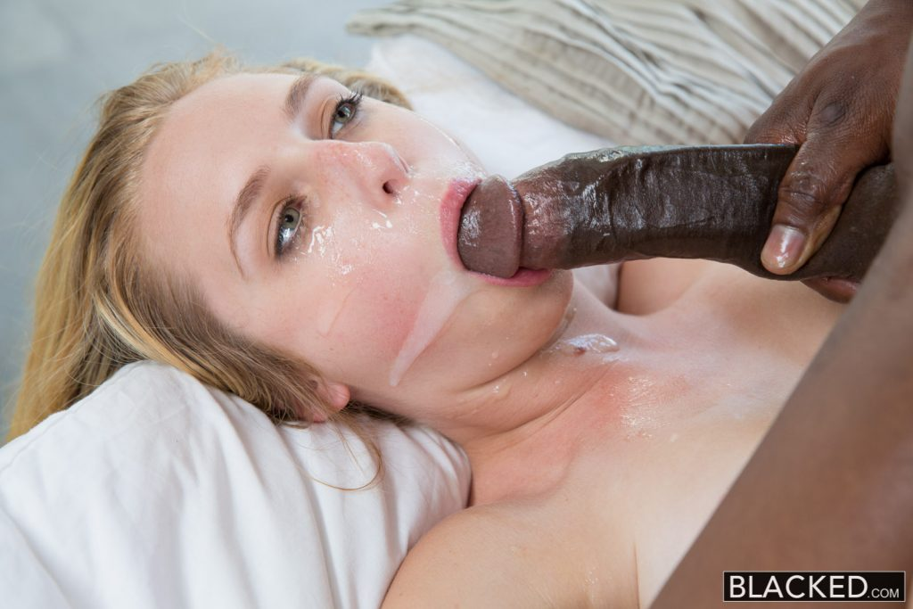 Milky skin blonde with glasses gets hard doggy style fuck 9