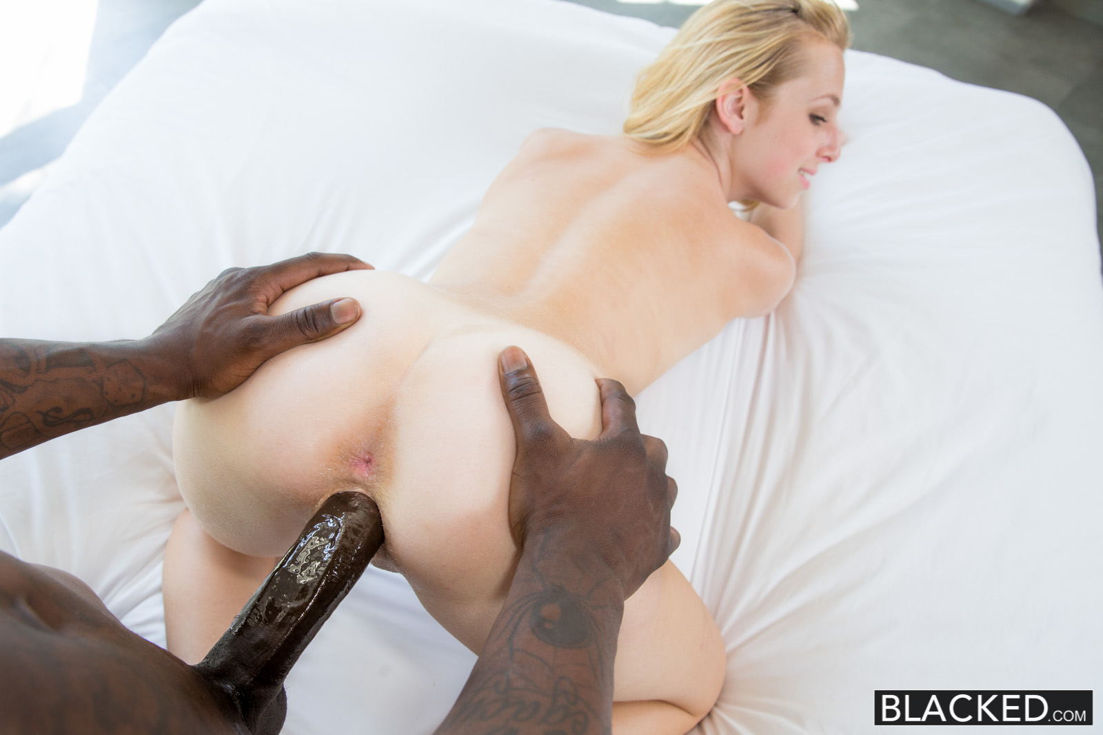 Blonde wife loves facial and home sex 8
