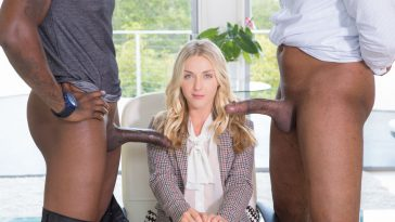 Blacked Karla Kush Perfect Blonde With 2 Monster Black Cocks with Flash Brown & Jovan Jordan 1