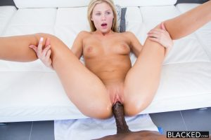 Blacked Preppy Blonde Girl Scarlet Red Loves Big Black Dick 12