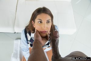 Blacked Real Model August Ames with Perfect Tits Loves Black Cock with Prince Yahshua 8