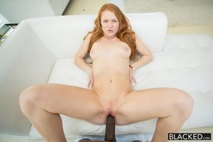 Blacked RedHead Teen Farrah Flower Enjoys Interracial Sex with Flash Brown 9