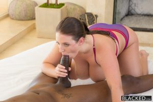 Blacked Big Natural Tits Australian Babe Angela White Fucks BBC with Flash Brown 6