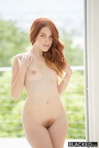 Blacked Red Head Model Amarna Miller Interracial Creampie with Flash Brown 1
