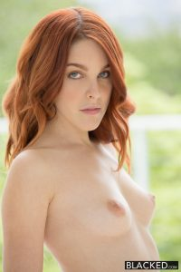 Blacked Red Head Model Amarna Miller Interracial Creampie with Flash Brown 2