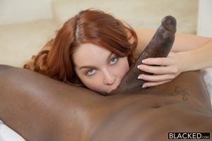 Blacked Red Head Model Amarna Miller Interracial Creampie with Flash Brown 6