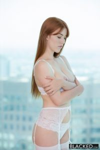 Blacked Gwen Stark in Red Head Beauty Loves Black Cock! with Jason Brown 1