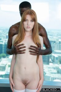 Blacked Gwen Stark in Red Head Beauty Loves Black Cock! with Jason Brown 7