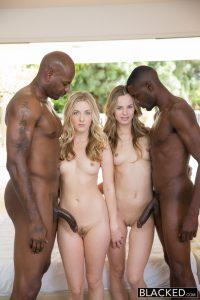 Blacked Jillian Janson & Karla Kush in Interracial Foursome for Two Beautiful Blonde Girls with Flash Brown & Jason Brown 5