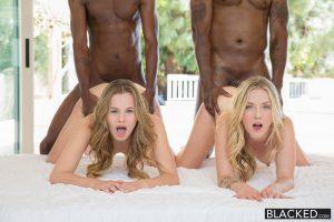 Blacked Jillian Janson & Karla Kush in Interracial Foursome for Two Beautiful Blonde Girls with Flash Brown & Jason Brown 8