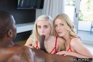 Blacked Karla Kush & Naomi Woods in Two Beautiful Blonde Girls Share a BBC with Isiah Maxwell 4