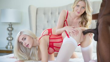 Blacked Karla Kush & Naomi Woods in Two Beautiful Blonde Girls Share a BBC with Isiah Maxwell 6