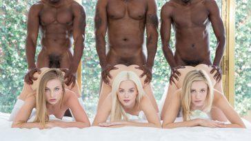 Blacked Elsa Jean, Rachel James & Sydney Cole in Preppy Girl Threesome Get Three BBCs with Isiah Maxwell, Jason Brown & Flash Brown 1