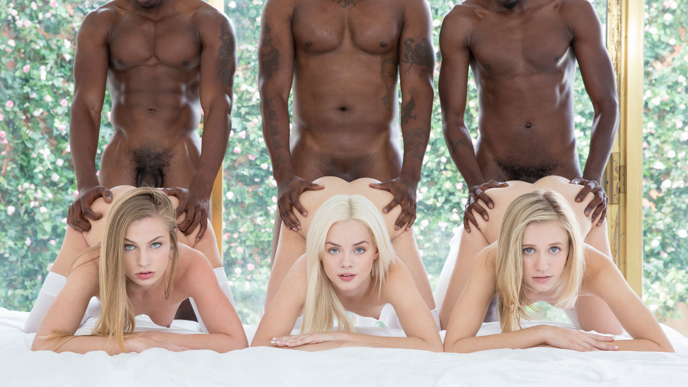 Preppy Girl Threesome Get Three BBCs – Elsa Jean, Rachel James, Sydney Cole, Isiah Maxwell, Jason Brown & Flash Brown