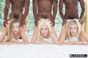 Blacked Elsa Jean, Rachel James & Sydney Cole in Preppy Girl Threesome Get Three BBCs with Isiah Maxwell, Jason Brown & Flash Brown 12