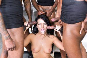 DarkX Adriana Chechik in Adriana's 1st IR Gangbang with Rico Strong, Ricky Johnson & Jon Jon 14