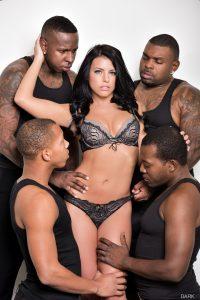 DarkX Adriana Chechik in Adriana's 1st IR Gangbang with Rico Strong, Ricky Johnson & Jon Jon 1