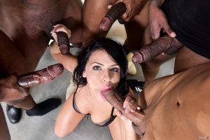 DarkX Adriana Chechik in Adriana's 1st IR Gangbang with Rico Strong, Ricky Johnson & Jon Jon 4