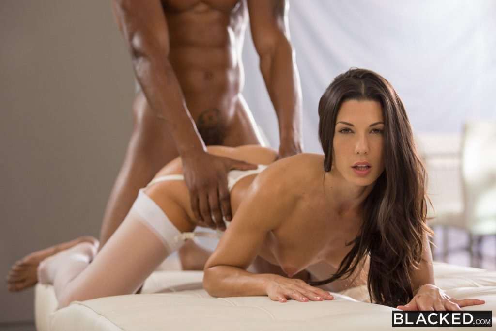 Blacked hot student fucks boyfriends bbc roommate