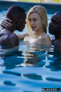 Blacked Alexa Grace in  Shy Blond Girlfriend First Threesome With Black Men with Jason Brown & Joss Lescaf 12