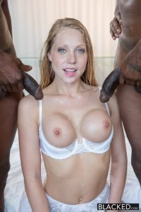 Blacked Shawna Lenee in Blonde Personal Assistant Loves Black Men with Flash Brown & Jason Brown