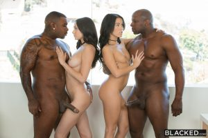 Blacked Ariana Marie & Megan Rain in  Stepsisters Share Everything 9