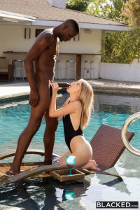 Blacked Arya Fae in Blonde Gets BBC from Brothers Friend with Jason Brown 14