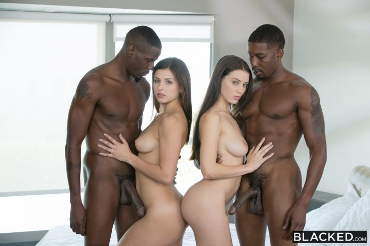 Blacked Lana Rhoades & Leah Gotti in Best Friends Share Two BBCs with Isiah Maxwell & Jason Brown 3