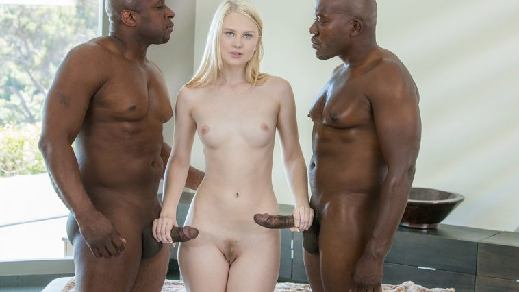 Blacked Lily Rader in Young Girl Tries Threesomes with Two BBC with Moe Johnson & Prince Yahshua 16