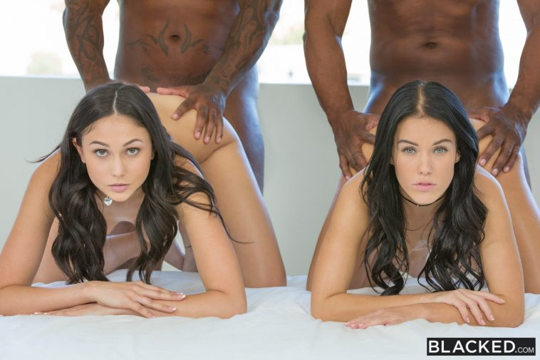 Blacked Ariana Marie & Megan Rain in  Stepsisters Share Everything 13
