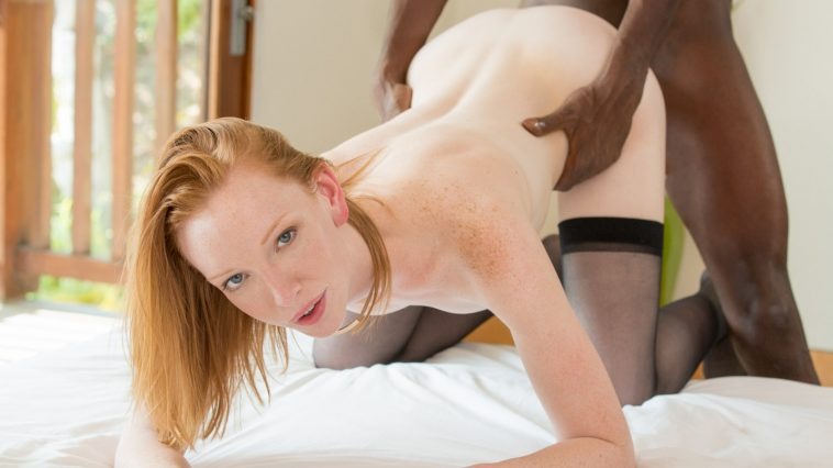 Blacked Katy Kiss in Sexy Redhead and BBC with Jason Brown 12